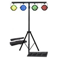 4-LED-Par-Cans-w-Stands-and-Cross-Bar